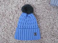 Шапка зимняя 091 голубая, фото 1