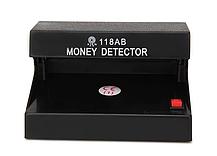 Компактный ультрафиолетовый прибор Детектор купюр AD-118AB для проверки валют Черный, фото 2
