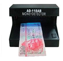 Компактный ультрафиолетовый прибор Детектор купюр AD-118AB для проверки валют Черный, фото 3