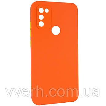 Чехол TPU Square Full Camera для Infinix Hot 10 Lite Оранжевый