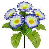 Искусственные цветы букет ромашки на подкустнике, 24см, фото 2