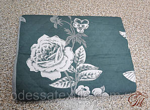 Покривало лляне 150х200 Троянда зелена в асортименті