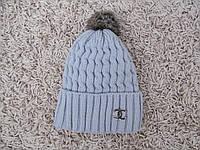 Шапка зимняя 091 серая, фото 1