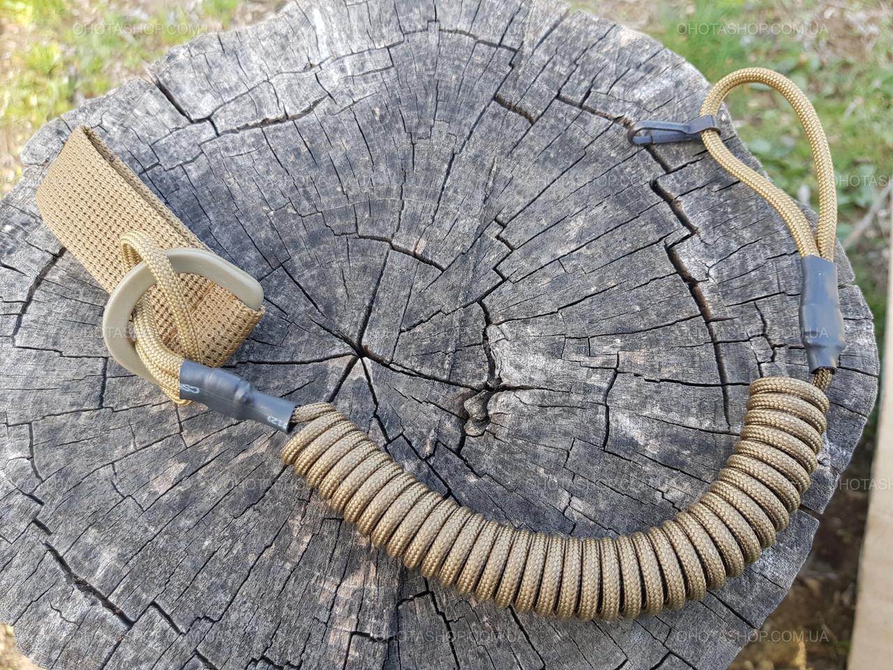 Шнур страховочный витой Тренчик-Карабин (паракорд, Койот)