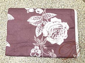 Покривало лляне 150х200 Троянда бордо