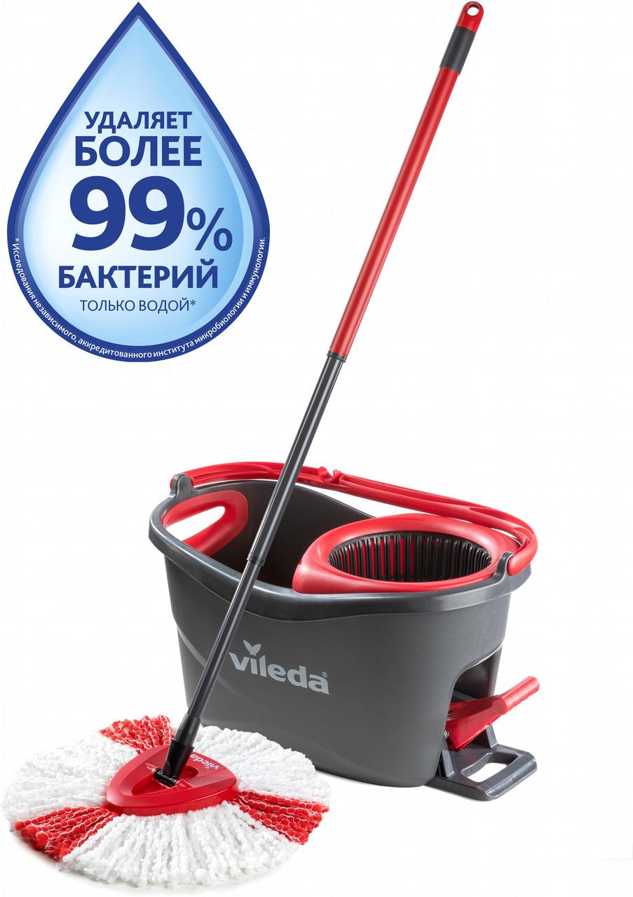 Набор для уборки Vileda Easywring & Clean Turbo (швабра и ведро с отжимом) (4023103194113)