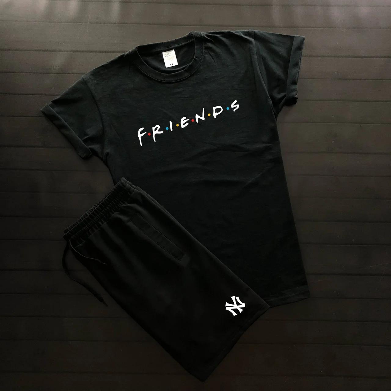 Футболка и шорты Friends черного цвета