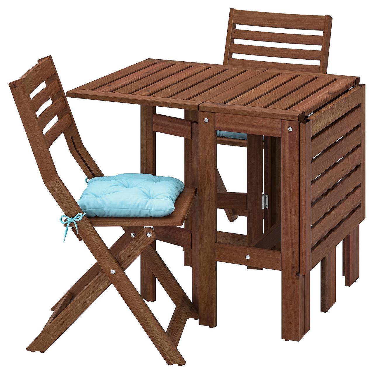 IKEA ÄPPLARÖ Стіл + 2 стільці розкладні
