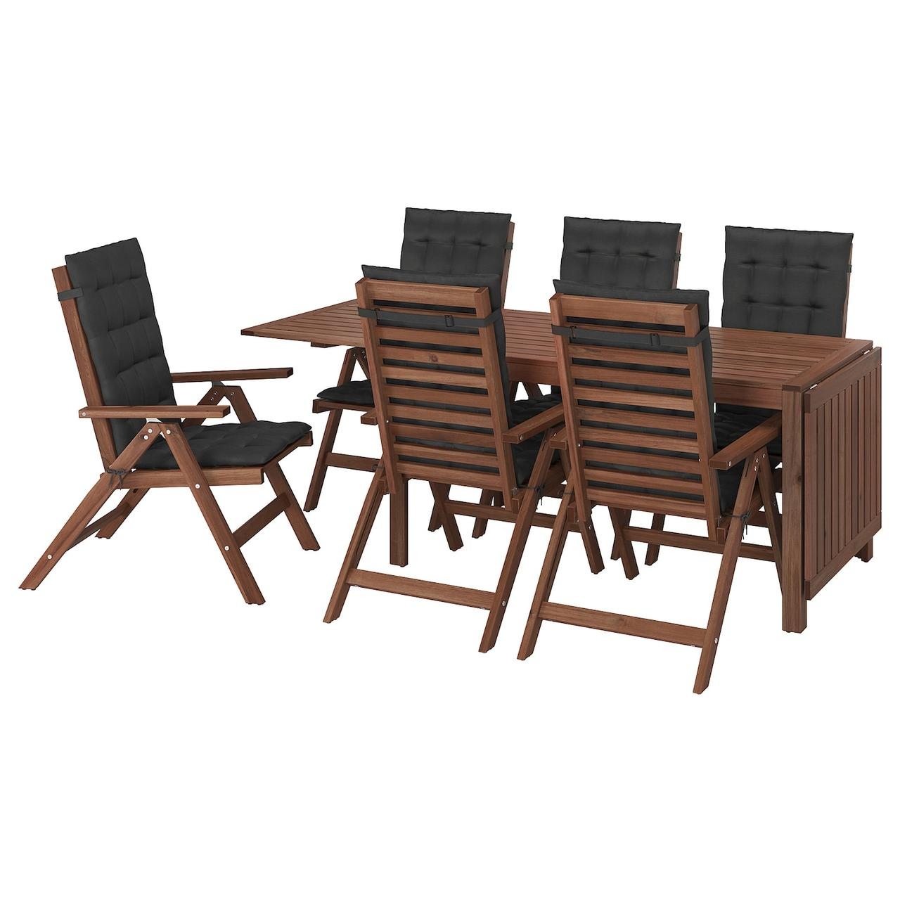 IKEA ÄPPLARÖ Стол + 6 кресла