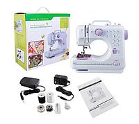 Швейная машинка портативная Mini Sewing Machine Fhsm 201 - Мини швейная машина с педалью и блоком питания
