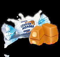 Цукерки Склянку молока (ІРИС MILKY SPLASH ROSHEN З МОЛОЧНОЇ НАЧИНКОЮ) 1 кг. Рошен (5 кг. в ящ.)