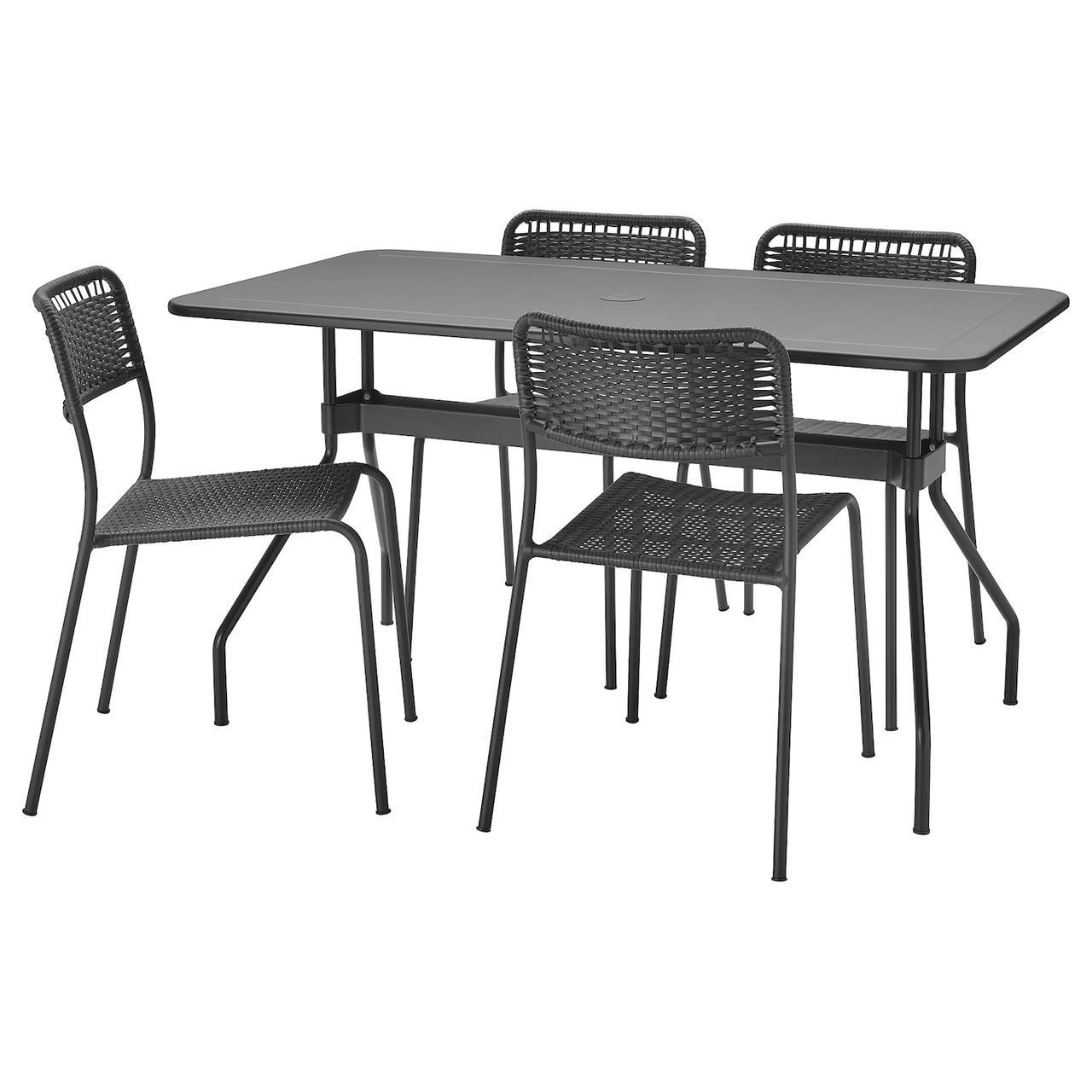 IKEA VIHOLMEN Стол 4 стула складные