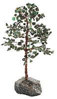 """Статуэтка декоративная Shishi """"Хрустальное дерево на мраморной основе"""", зеленая; h 27 см"""
