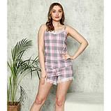 Пижама трикотажная майка с шортами, фото 2