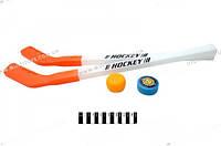 Хоккейная клюшка с шайбой