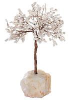 """Статуэтка декоративная Shishi """"Хрустальное дерево на мраморной основе"""", белая; h 27 см"""