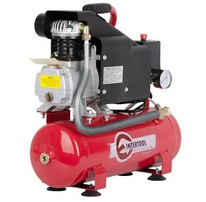 Компрессор (10л) поршневой Intertool PT-0002 с защитой от скачков напряжения и перегрева двигателя