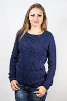 Кофта женская узор темно-синяя р.46-48 AL82