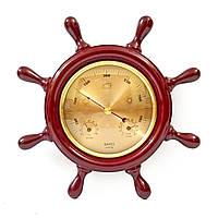 Барометр настінний дерев'яна яний з термометром та гігрометром (22 x 22 x 3 см) 414