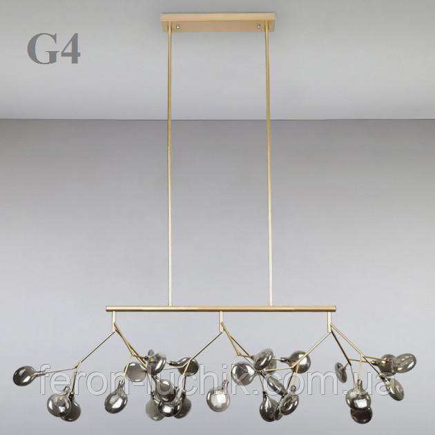 Люстра подвесная на 27 ламп G4 потолочная 8527/27 (золото)