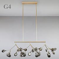 Люстра підвісна на 27 ламп G4 стельова 8527/27 (золото)