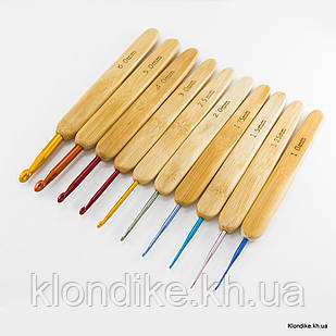Набор Алюминиевых Крючков для Вязания, 133~137мм, Цвет: Микс (1 Набор)