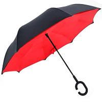 Зонт обратного сложения, антизонт, умный зонт, зонт наоборот Up Brella Красный 151024