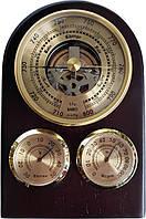Барометр настінний дерев'яна яний з термометром та гігрометром (9 x 13,5 x 3 см) 0704