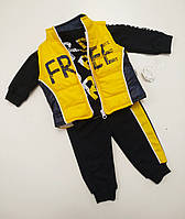 Детский костюм для мальчика жилетка,штаны,батник размер 86 на 18 месяцев Турция