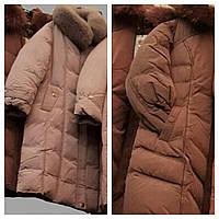 Длинный пуховик пальто с капюшоном, фото 1