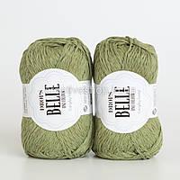 Пряжа Drops Belle (колір 10 moss green)