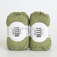 Пряжа Drops Belle (цвет 10 moss green)