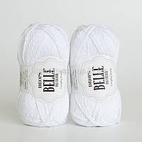 Пряжа Drops Belle (колір 01 white)