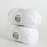 Пряжа Drops Belle (цвет 01 white), фото 2