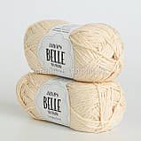 Пряжа Drops Belle (колір 02 off white), фото 2
