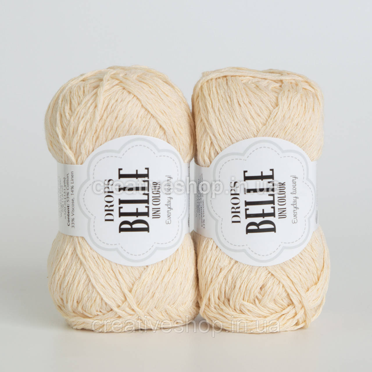 Пряжа Drops Belle (колір 02 off white)
