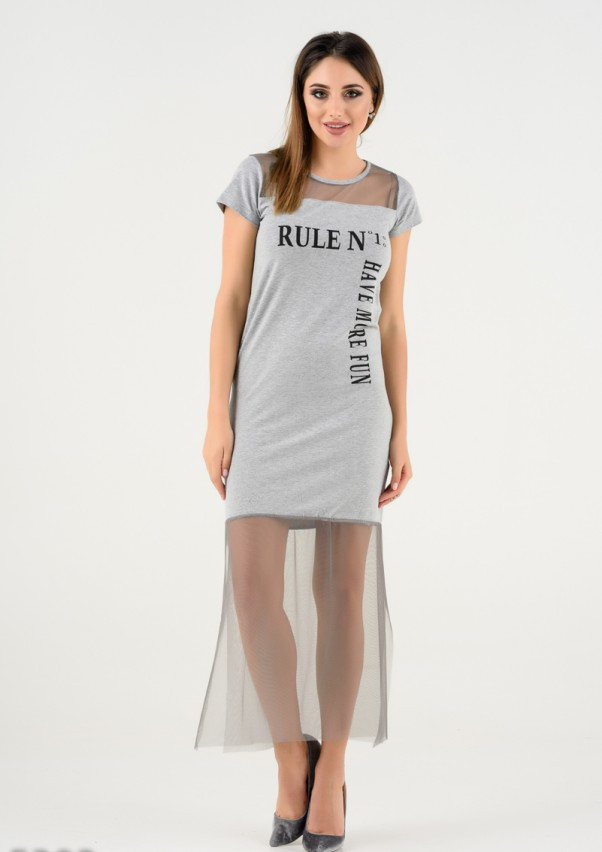 Платья  5303  S серый