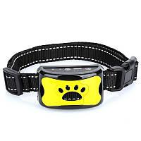 Ультразвуковой ошейник антилай для собак Pecute Y-8, с током, желтый