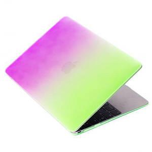 "Чохол накладка DDC пластик для MacBook 12"" rainbow green"