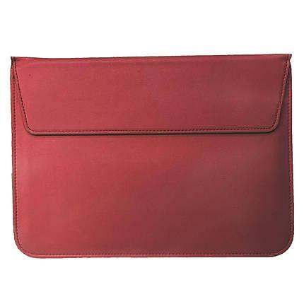 "Папка-конверт PU sleeve bag для MacBook 11"" wine red, фото 2"