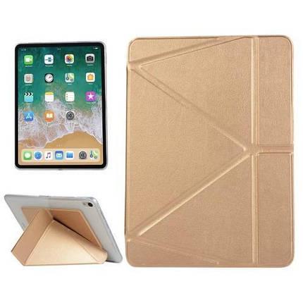 "Чехол Origami Case для iPad Pro 10,5"" / Air 2019 Leather gold, фото 2"