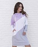 Трикотажное повседневное платье с капюшоном XL, фото 2