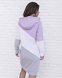 Трикотажное повседневное платье с капюшоном XL, фото 3