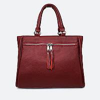 М'яка жіноча червона сумочка шкіряна 8782-9