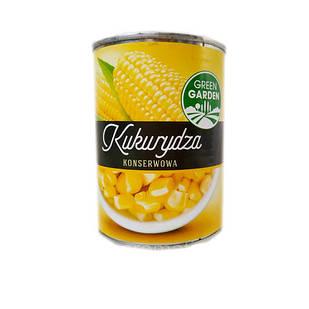 Кукурудза цукрова консервована (солодка) 400г Green Garden в ж/б, Польща