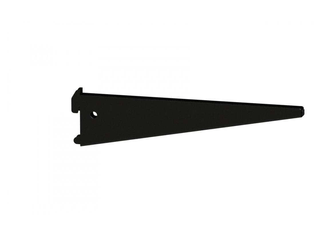 Подвійний Кронштейн 220мм під ДСП /скло полицю (чорний)