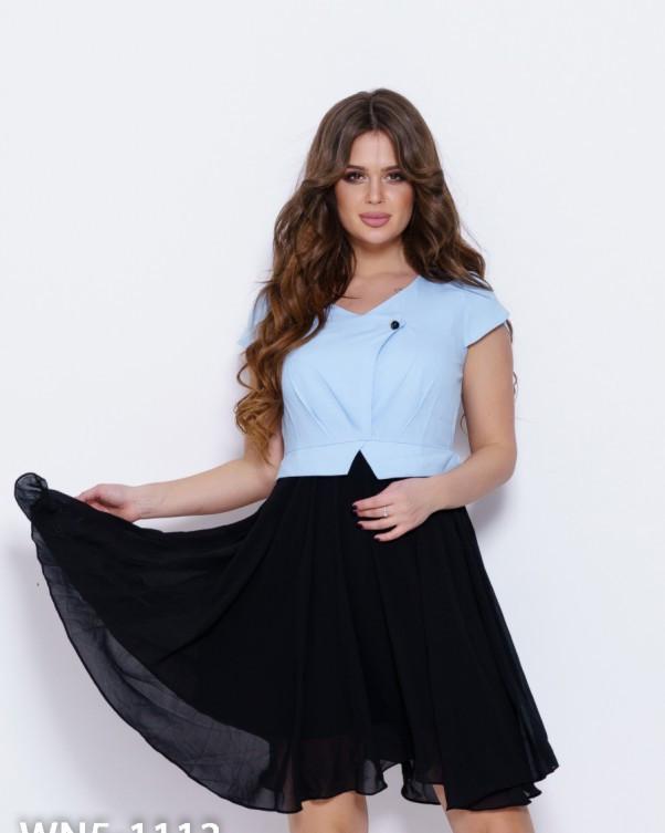 Сукні WN5-1113 S чорний/блакитний