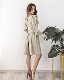 Светло-зеленое платье с оригинальной драпировкой L, фото 3