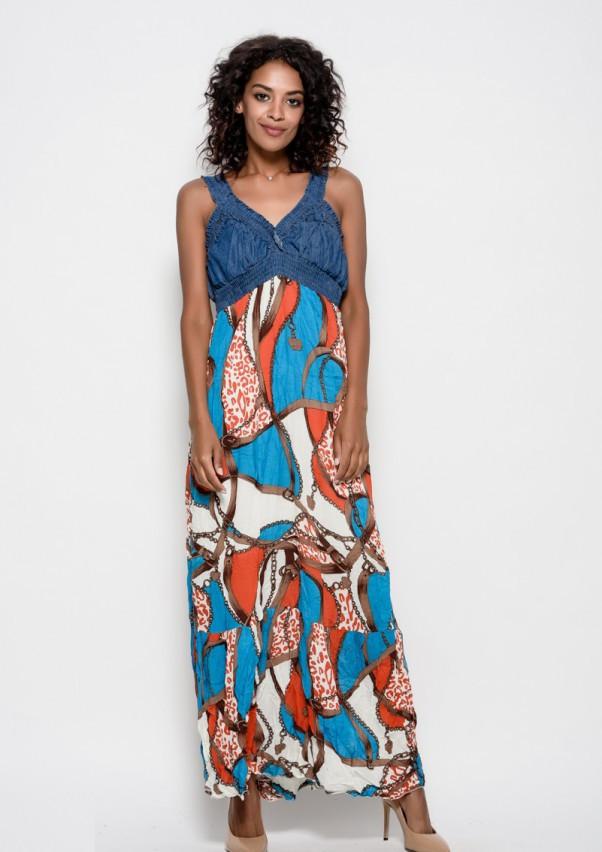 Платья  WN9-91  S голубой