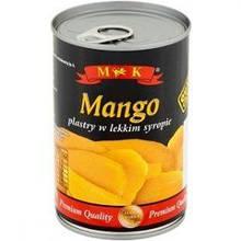 Манго консервированный в сиропе ломтиками в ж/б M&K (Польша), 425г